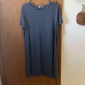 GAP heather gray tee shirt dress ribbed XL